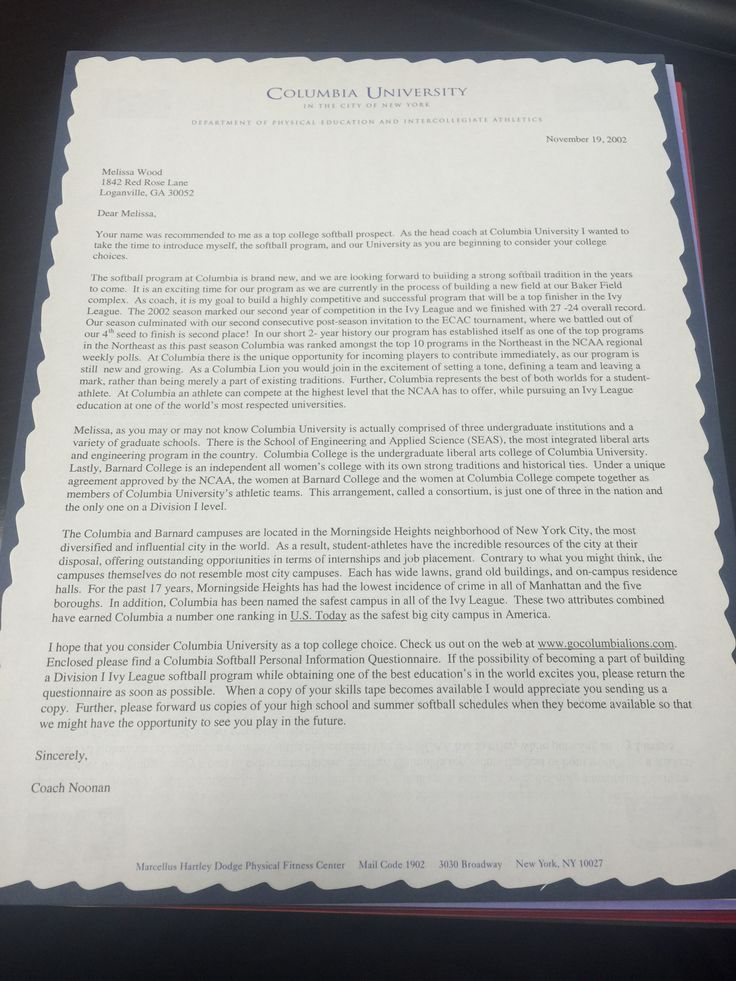 Columbia The 76 best Recruiting Letters images
