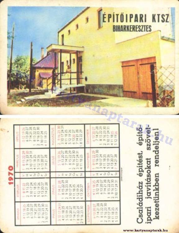 1970 - 1970_0446 - Régi magyar kártyanaptárak