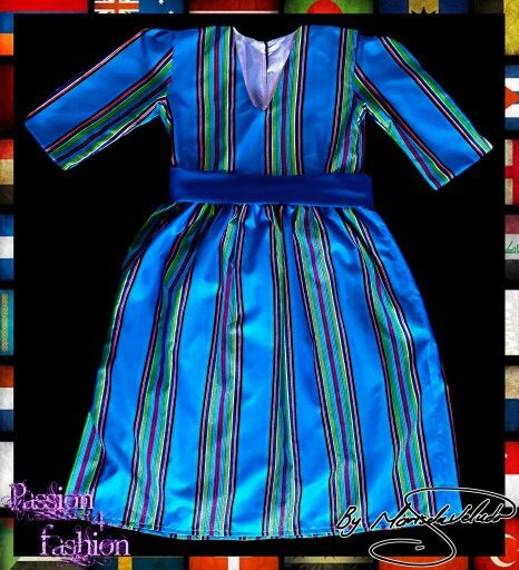 Venda Traditional Modern Dresses: Venda Traditional Ankle Length Dress Gathered From The