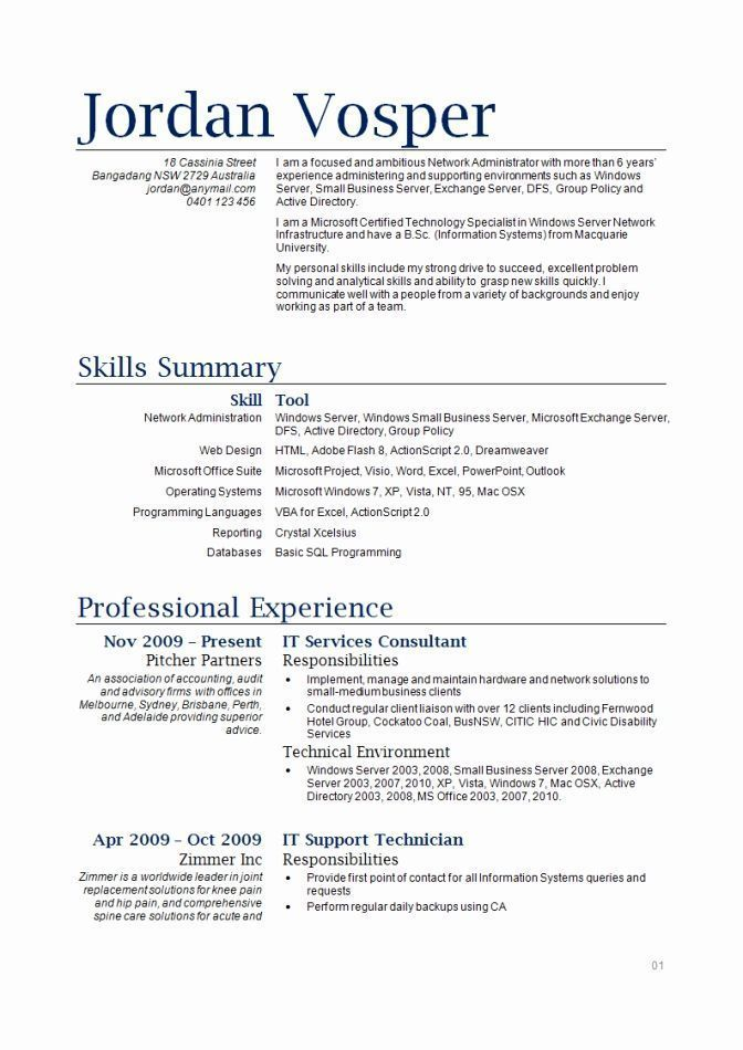 Traditional 2 Resume Format 2-Resume Format Sample resume