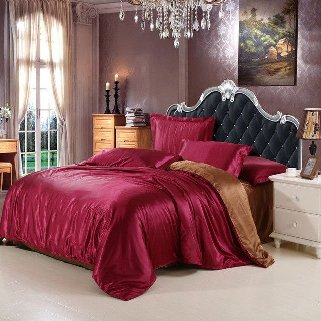 4pcs Bedding Set Silk Cotton King Queen Twin size Duvet Cover Bed Sheet