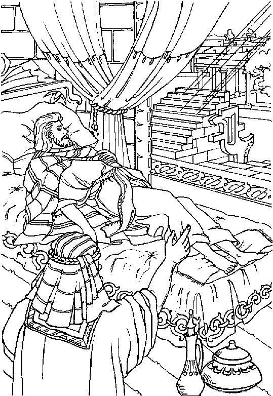 king hezekiah praying coloring pages - photo#10