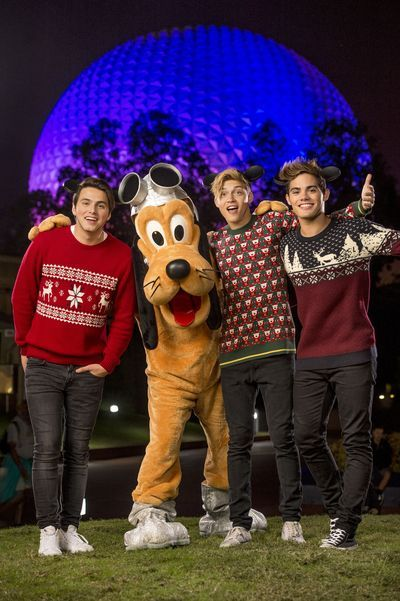 """DISNEY CHANNEL – Talent from Disney Channel were at the Walt Disney World Resort in Orlando, Florida during the taping for """"Disney Parks Presents: A Descendants Magical Holiday Celebration"""" that will air Friday, November 25 on Disney Channel. (Disney Channel/Kent Phillips) FOREVER IN YOUR MIND, PLUTO"""