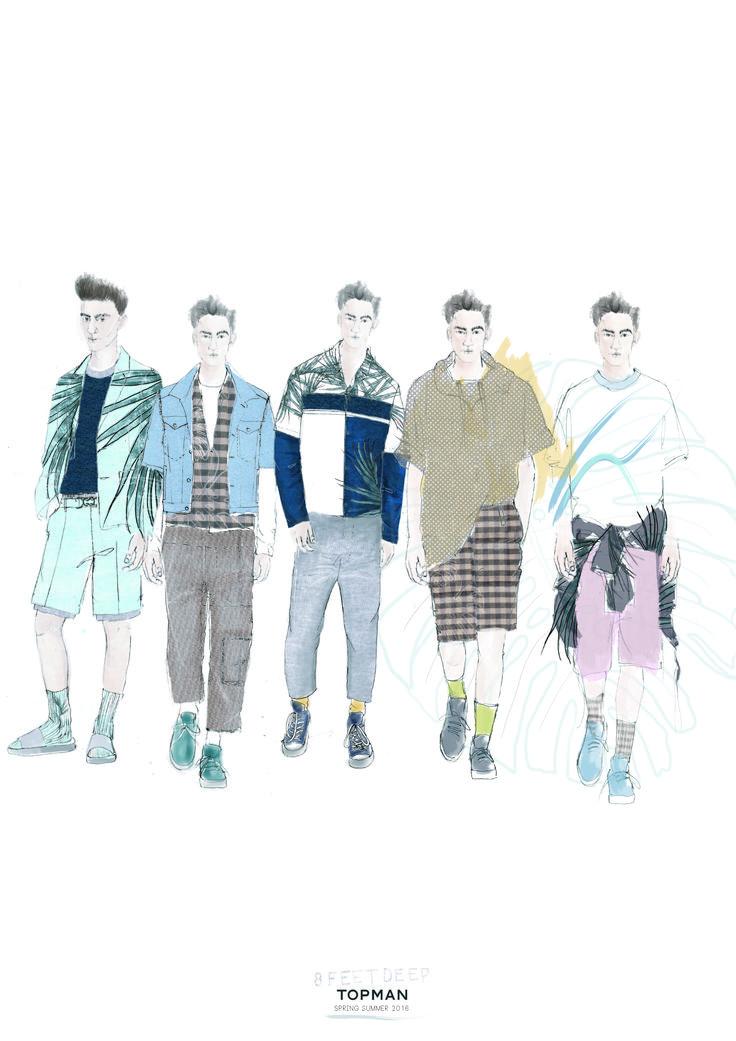 Fashion Portfolio - fashion design lineup; fashion illustrations; fashion sketchbook // Amie Edwards