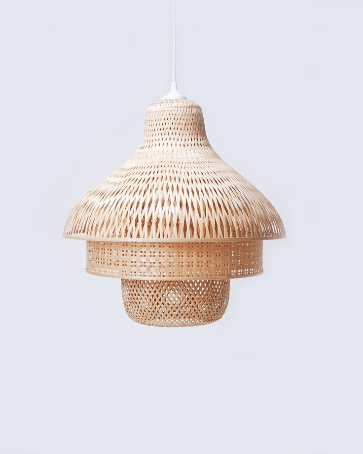 These beautiful bamboo pendant lights are designed