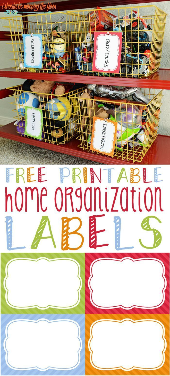 Free Printable Home Organization Labels Organizing Labels Toy