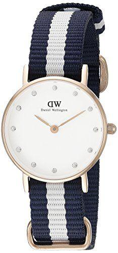 Daniel Wellington Damen-Armbanduhr XS Classy Glasgow LADY ROSEGOLD Analog Quarz Nylon 0908DW - http://uhr.haus/daniel-wellington/ros-gold-daniel-wellington-uhr-classy-glasgow-neu