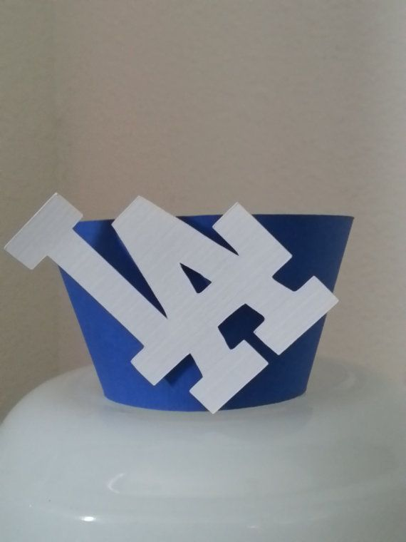 MLB  Dodgers Cupcake Wrappers  Set of 12 by GigisShop805 on Etsy