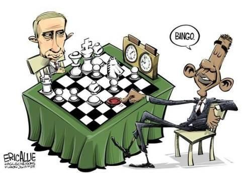 Putin Obama cartoons fill the Internet
