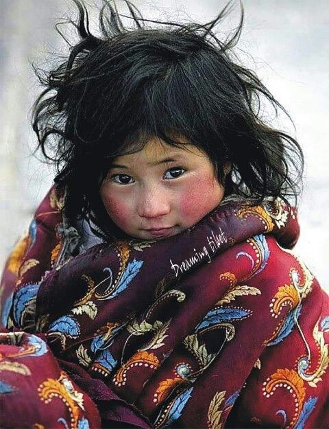 """I think I will become an immigrant today"" ... said no child!    Tibetan Khampa girl"