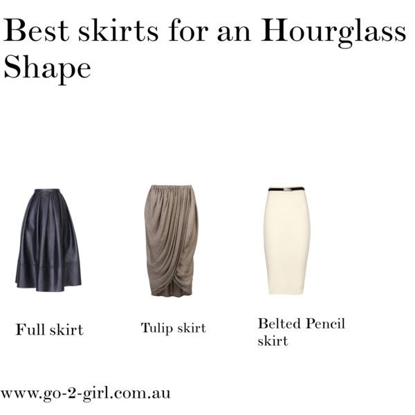 """""""Best skirts for an Hourglass Shape"""" by go-2-girl on Polyvore"""