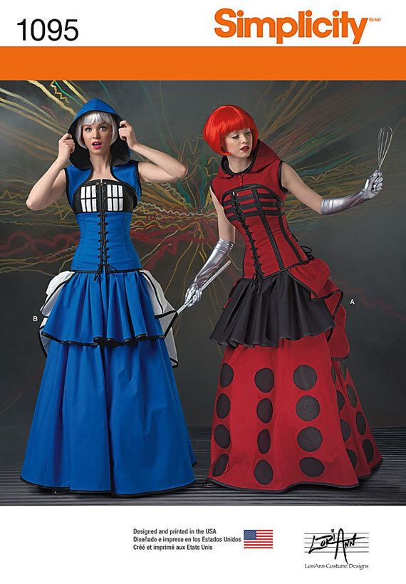 Simplicity 1095 H5 US Size 6 - 14 Cosplay Sewing Pattern New & Unused Dr. Who Tardis Steampunk Corset Dress Comic Con Outfit Halloween by CreatorsandSellers on Etsy https://www.etsy.com/listing/397895681/simplicity-1095-h5-us-size-6-14-cosplay
