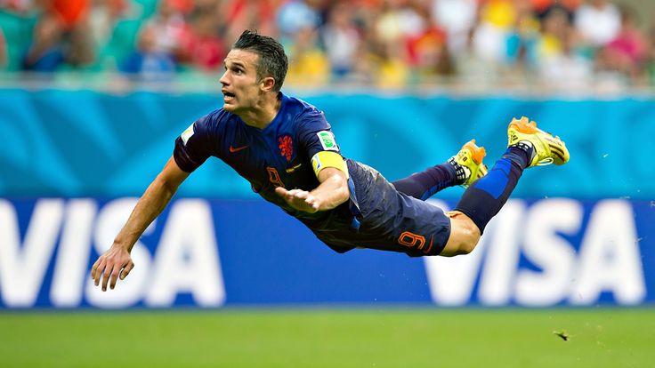 Van Persie's diving header against Spain in this years world cup