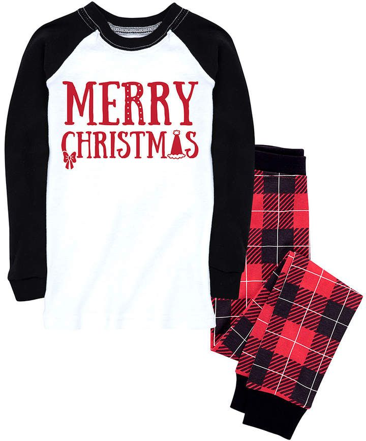 Red & Black Buffalo Plaid 'Merry' Pajama Set - Infant ...