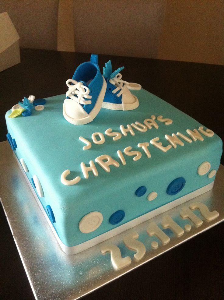 Joshua's christening cake