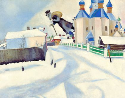 Marc Chagall, Over Vitebsk (1922). Oil on canvas