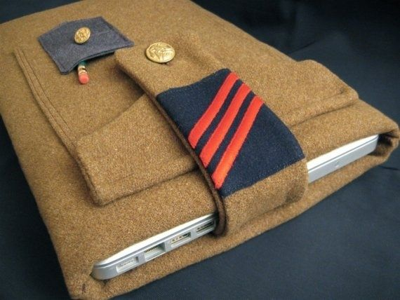 Cases Made from Vintage Military Uniforms