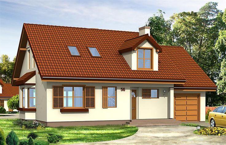 Projekt domu Zgrabny z lukarnami