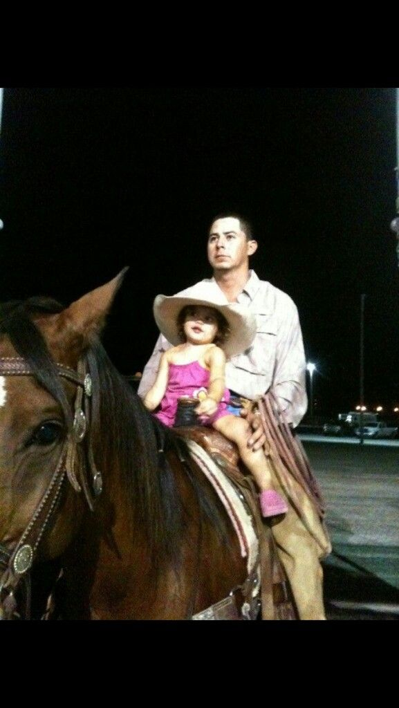 Rodeo life. My daughter Brooke and uncle Trey at a ranch rodeo!