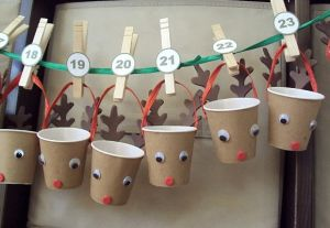 Count it Down: A DIY paper cup advent calendar is fun for every age group – and a great way to help younger kids with learning numbers and counting. We like this adorable reindeer calendar. Pop a chocolate for each kiddo inside every cup and let the countdown begin!