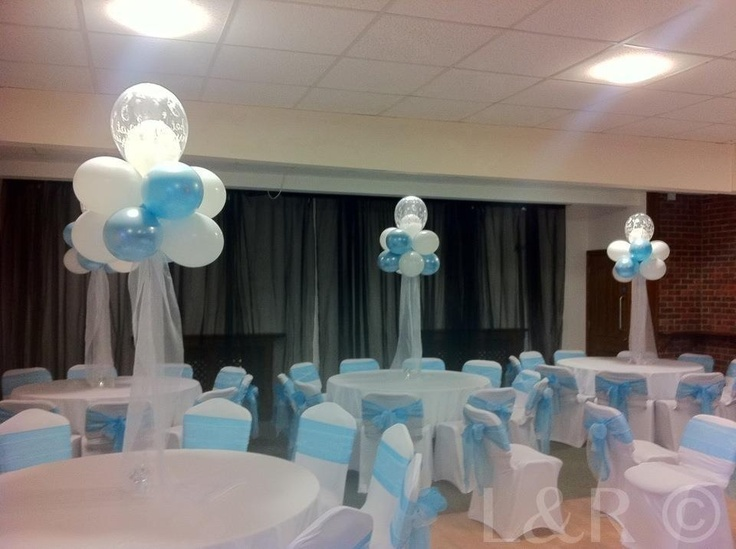 Elegant tulle balloon deco table centre pieces ideas for Balloon cloud decoration