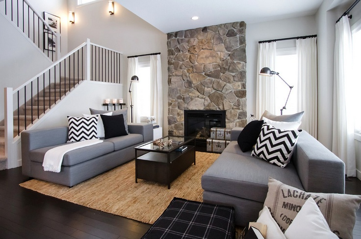 Monochrome and natural shades | Living area | Pinterest ...