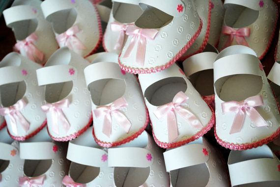 Baby shoes 3D Baby Shower Invitation Baby by alleccssa on Etsy, $3.50