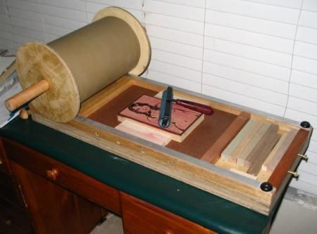 how to make a printing press at home