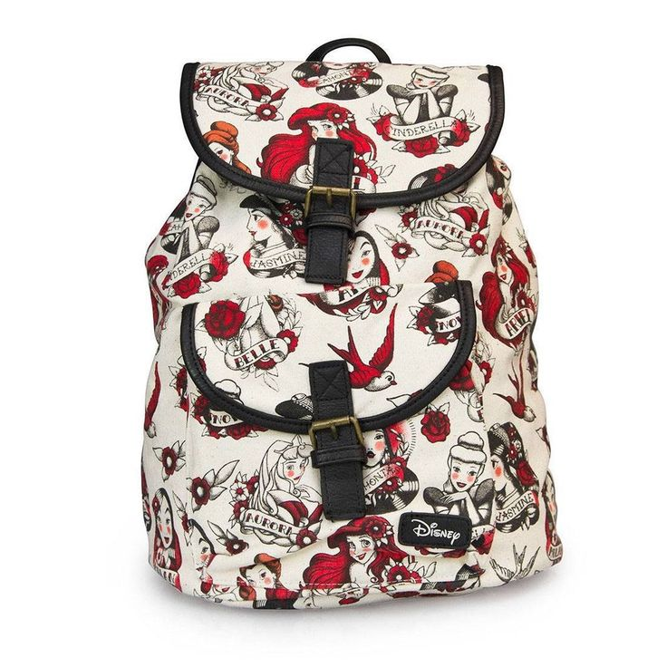 Loungefly Disney Princess Tattoo Canvas Backpack Purse ...