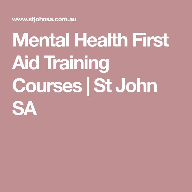 Mental Health First Aid Training Courses | St John SA