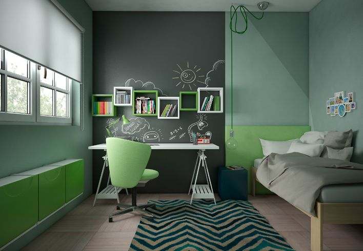 cameretta-bambini-colorata-scrivania