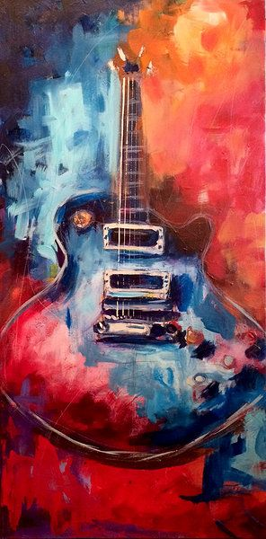 If you are interested in the Original, please contact Ansbach Artisans in Franklin, TN. Roy Laws 1959 Gibson Les Paul  24 x 48 Acrylic on Canvas painting of the legendary Les Paul Standard Guitar. The favorite of stars such as Eric Clapton and more! http: