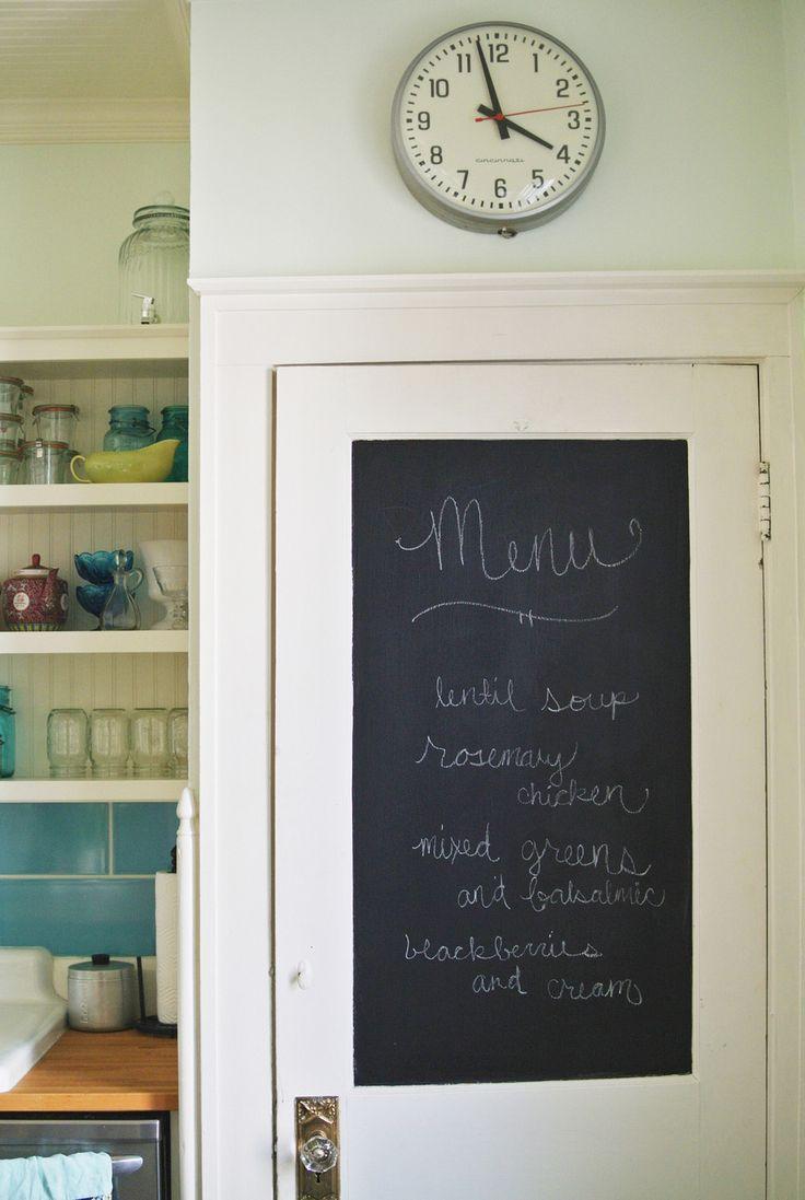 chalkboard kitchen door | farm fresh therapy.jpg