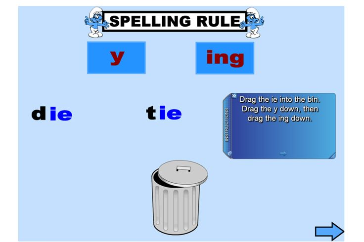 Explore how to add -ing to verbs ending in -ie with this fun IWB lesson. http://schools.interactivelessons.com.au/ http://interactivelessons.com.au/