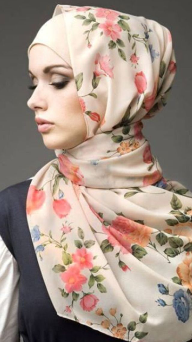 I like this flower hijab for spring/summer time