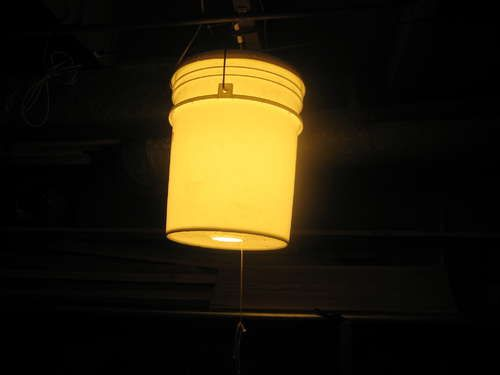 DIY 5-Gallon Bucket Light for Camping We have two of these...wonderful, use colored  buckets