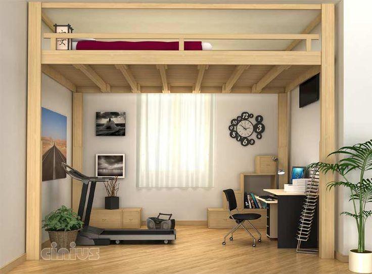 Oltre 25 fantastiche idee su soppalco camera da letto su - Letto su soppalco ...