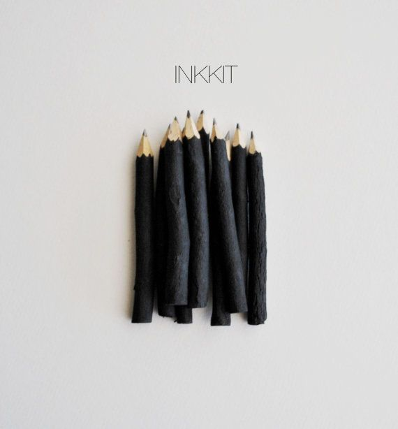 a journal + black twig pencils by inkkit = sweet gift