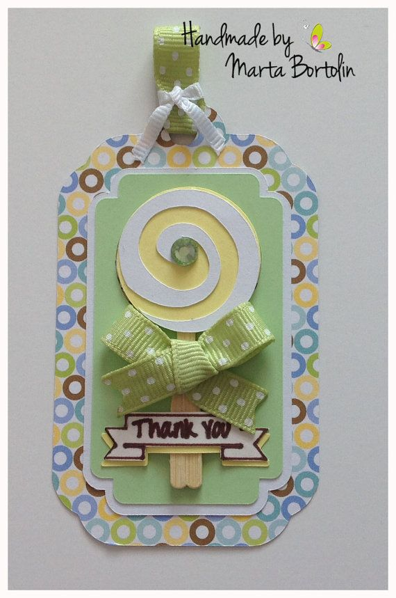 Baby Shower Tag Birthday Tag Favor Tag Thank you by tracesofcrafts