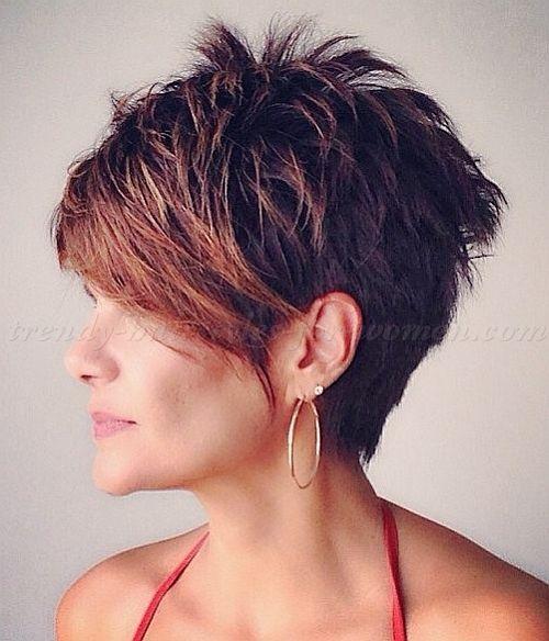 Short Hairstyles With Long Bangs Short Hair Long Fringe Short