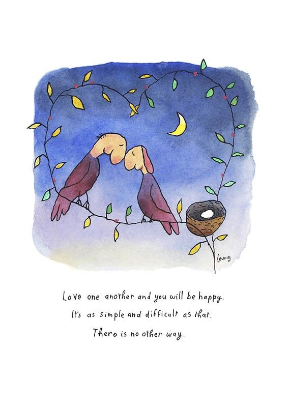 Love one another,, by Michael Leunig