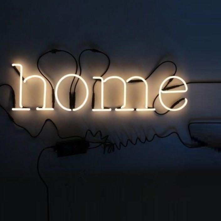 Seletti Neon Art Font Set Wall Lights 'home' by Seletti