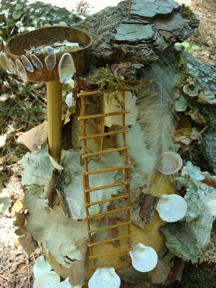 Lichen Fairy House At Woodlands Garden In Decatur Fairy