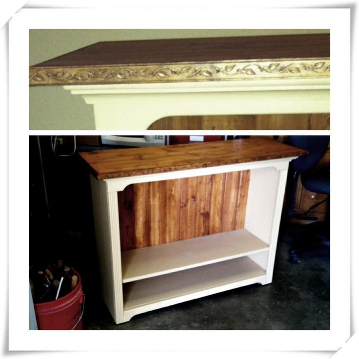 Refurbished bookcase #DIY #furniture