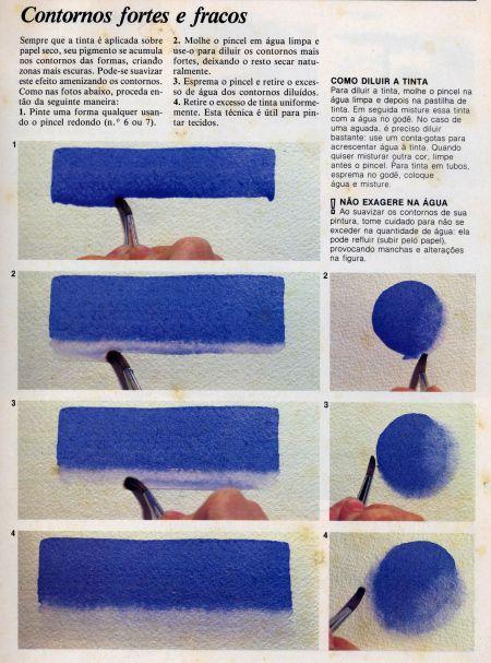 Aquarela, técnicas básicas