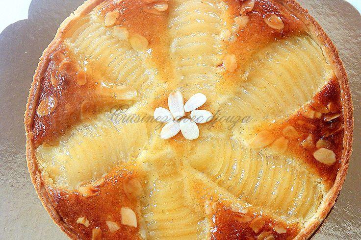 CAP pâtissier : préparer la bourdaloue, une tarte aux poires amandine où les poires sont disposées façon bourdaloue. La recette de cette tarte poire amande