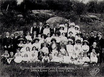 Messrs Swan Bros employees Third Annual Picnic, Fairyland Pleasure Grounds, Lane Cove River, 1.4.1911