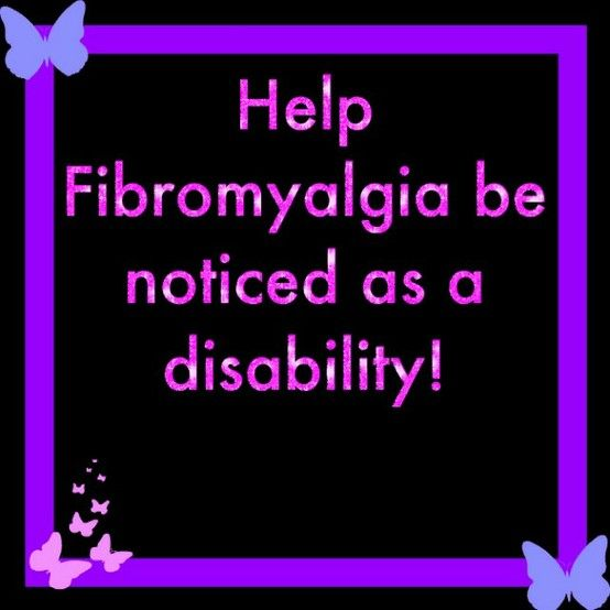 If you or some one you know suffers from Fibromyalgia Please Sign The Petition!http://www.change.org/petitions/u-s-department-of-health-human-services-senator-herb-khol-put-fibromyalgia-as-part-of-the-disability-act