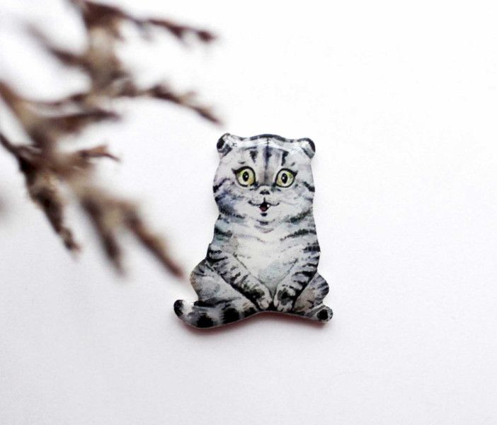 cats at DaWanda Cat brooch, cat jewelry,animal brooch from Dinabijushop by DaWanda.com