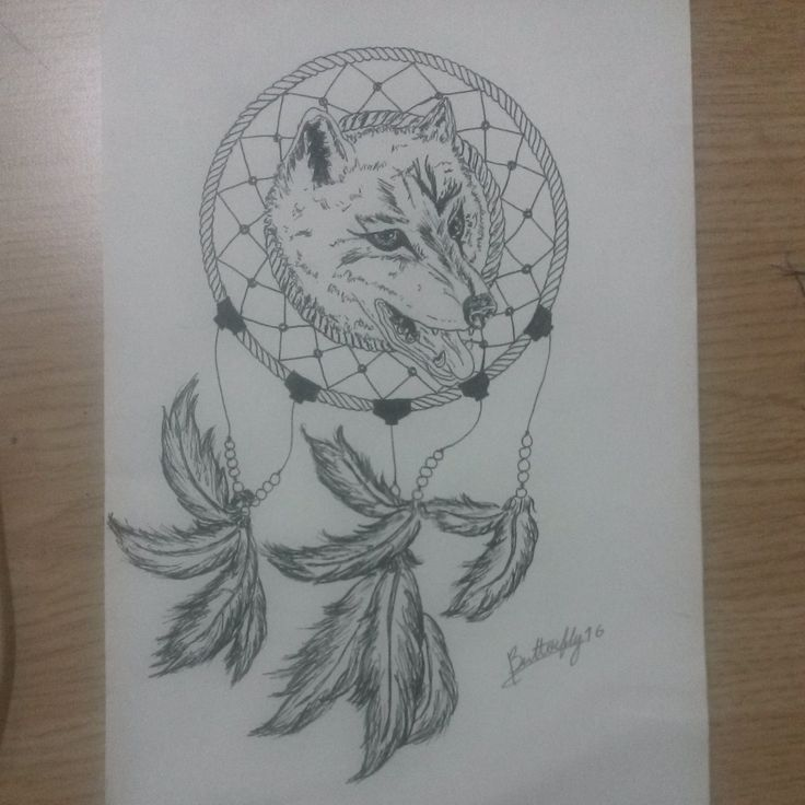 sketch dreamcatch tattoo